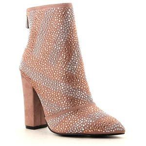Shoes - ️Mauve Rhinestone Glitter Booties